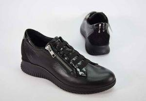 Sneaker cuña mujer Baerchi 38206 negro