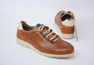 Zapato sneaker cordones piel Baerchi 4335 cuero