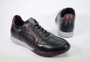 Zapato sneaker cordones piel Baerchi 5130 negro