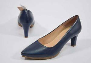 Zapato salón tacón medio Chamby 4276 marino