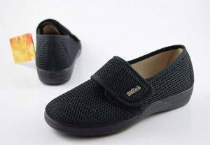 Zapatilla calle con velcro Devalverde 160 negro