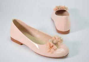 Zapato niña bailarina charol Yowas 23128 rosa