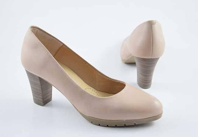 Zapato salón tacón medio Desiree 2220 coco