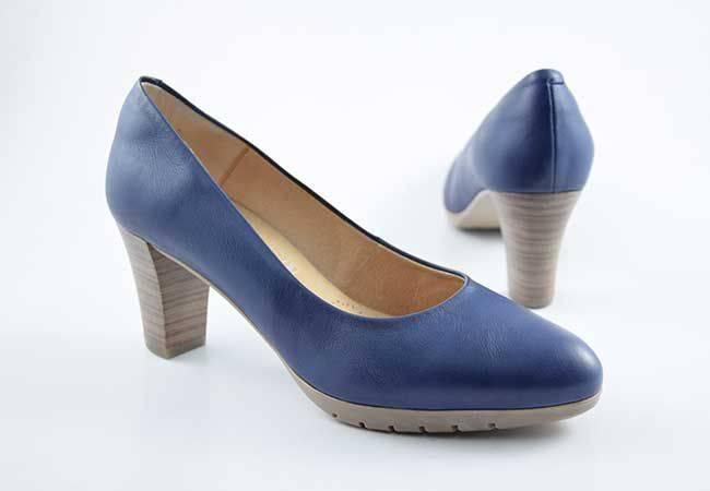 Zapato salón tacón medio Desiree 2220 tinta