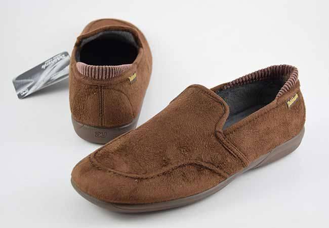 Zapatilla de calle mocasín de hombre DeValverde 3023 marrón