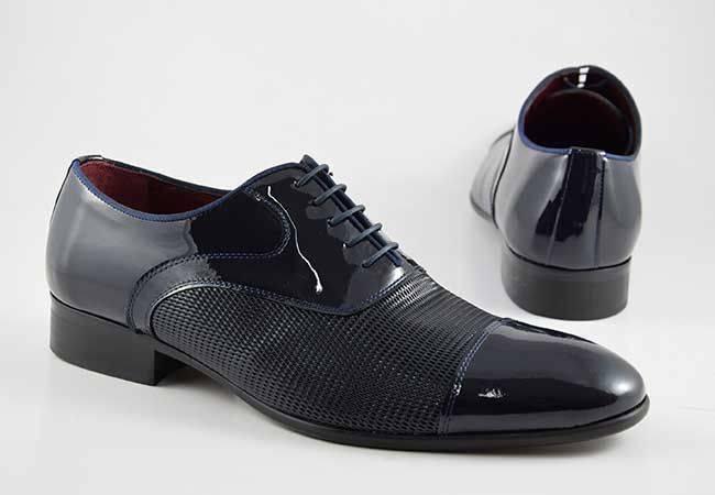Zapato oxford vestir hombre charol JR Jimenez 161P azul