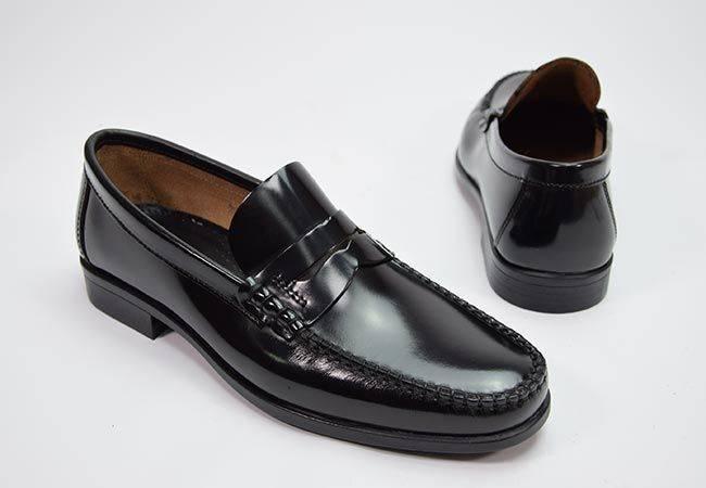 Zapato castellano con antifaz Himalaya 1921 negro