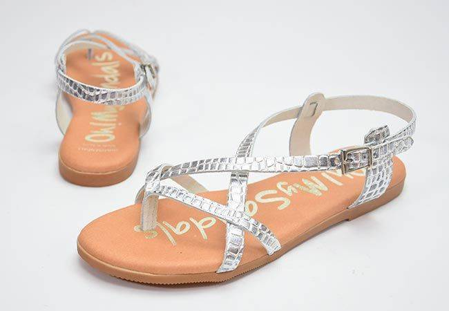 Sandalia plana Oh My Sandals 4802 plata