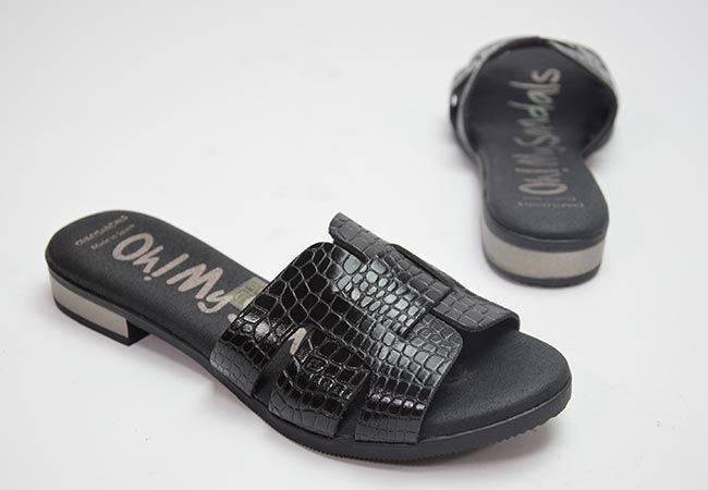 Chancla plana Oh My Sandals 4815 negro