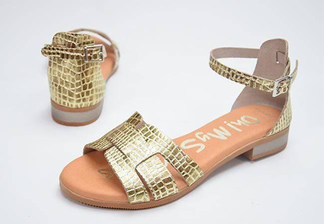 Sandalia plana Oh My Sandals 4816 platino