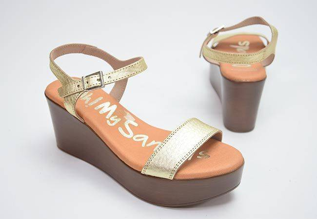Sandalia plataforma Oh My Sandals 4894 platino