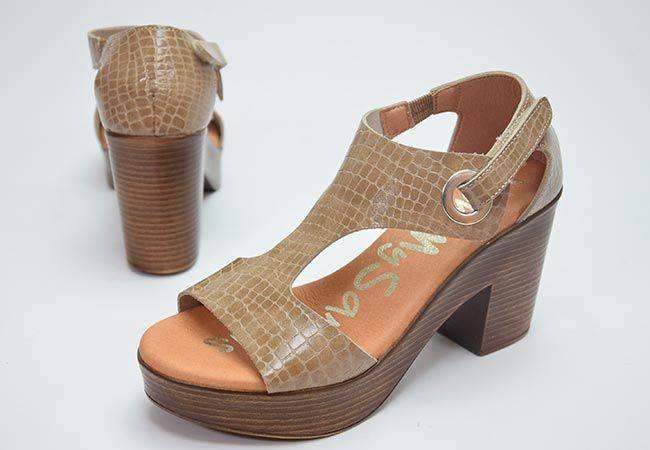 Sandalia plataforma Oh My Sandals 4904 taupe