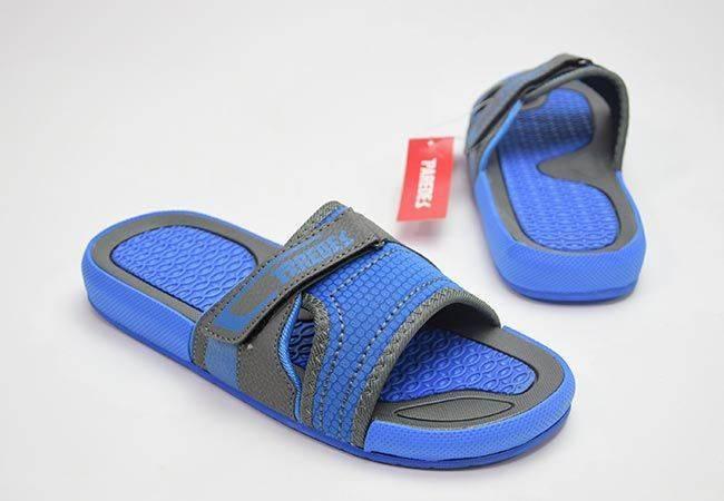 Chancla playa hombre velcro Paredes 595 azul