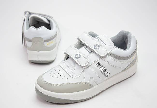 Zapatillas urban classic velcro Paredes DP101 blanco