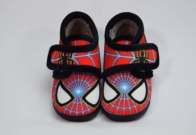Zapatilla casa botín Spiderman Vulca Bicha 1070 rojo