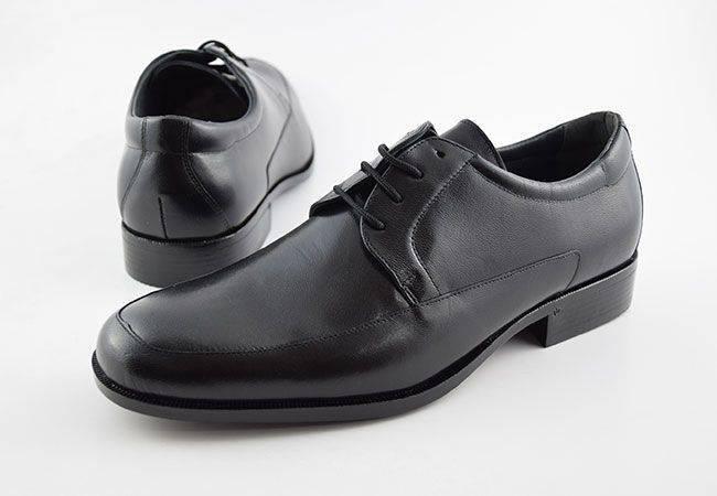 Zapato blucher ancho especial vestir piel Baerchi 4681 negro