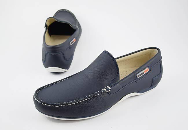 Zapato casual mocasín piel hombre Comodo Sport 416 marino