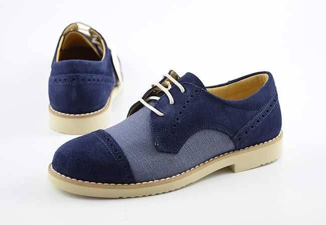 Zapato comunión casual niño cordones Yowas 20335 azul