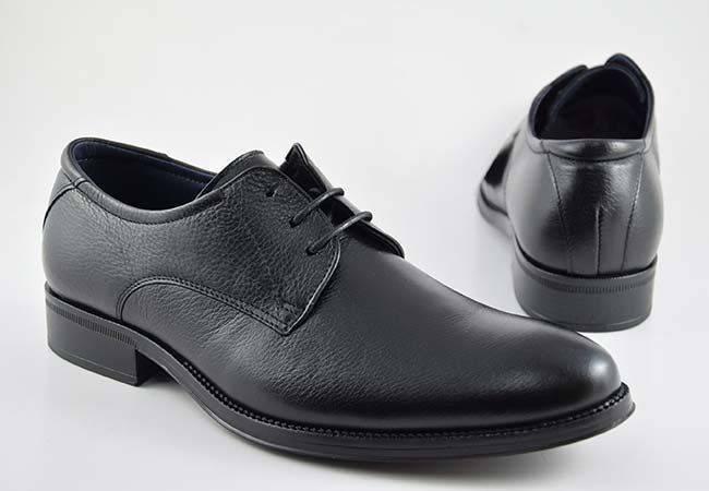 Zapato vestir casual hombre cordones Baerchi 2751 negro