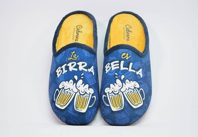Zapatilla casa destalonada birra Cabrera 3553 azul