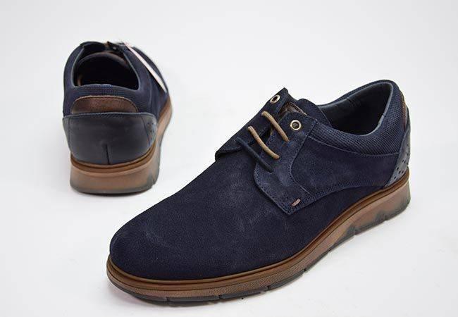 Zapato casual cordones DJ Santa 13341 marino