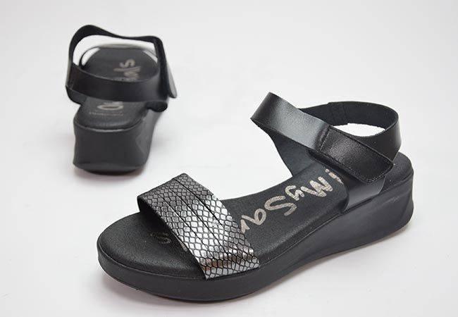 Sandalia plataforma Oh My Sandals 4840 gris