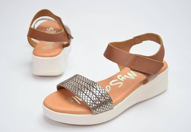 Sandalia plataforma Oh My Sandals 4840 platino