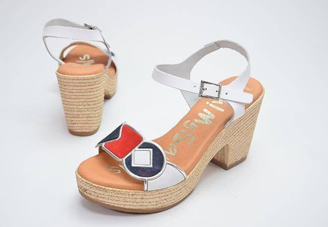 Sandalia plataforma Oh My Sandals 4882 blanco