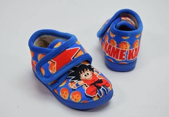 Zapatilla casa botín Goku Vulca Bicha 1043 azul