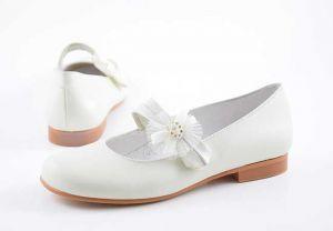 Zapato comunión niña mercedita Bambi 4410 beig
