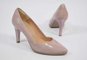 Zapato salón tacón alto Desiree 2077 charol rosa
