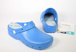 Zueco laboral eva Feliz Caminar Flotantes azul eléctrico