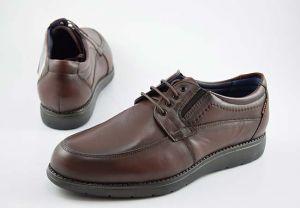 Zapato blucher ancho especial piel Tolino 7911 marrón