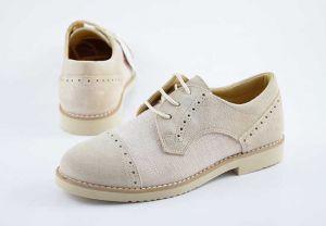 Zapato comunión casual niño cordones Yowas 20335 beig