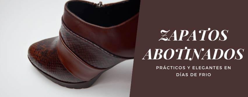 Zapatos abotinado de mujer